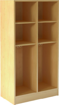 Open Double With Upper Shelves