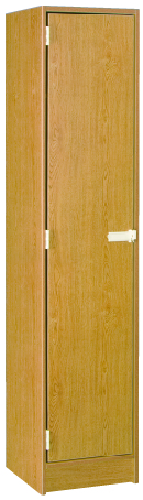 Single Door With Upper and Lower Shelves
