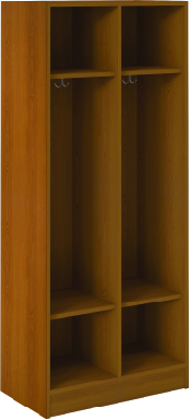 Open Double With Upper and Lower Shelves