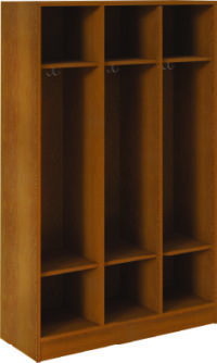 Open Triple With Upper and Lower Shelves