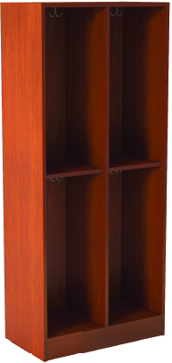 Open Double With Middle Shelf