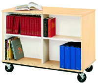 "36"" Tall Double Sided Book Cart"