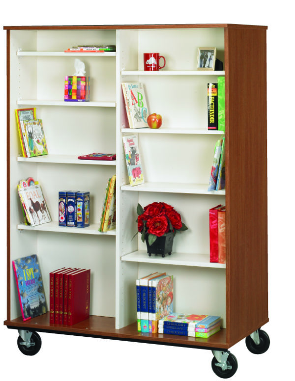 """67"""" Tall Double Sided Book Cart"""