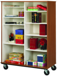 "67"" Tall Open Divided Mobile Storage"