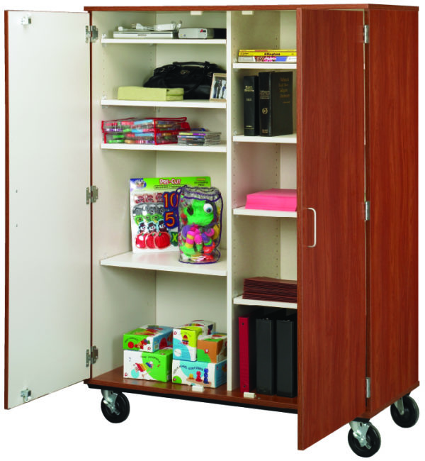 """67"""" Tall Closed Divided Mobile Storage"""