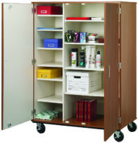 "67"" Tall Closed Shelf Mobile Storage"