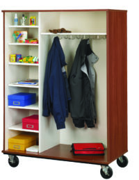 Open Shelf/Coat Combo