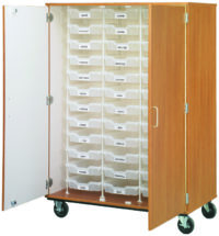 "Closed Bin Storage - (36) 3"" Bins"