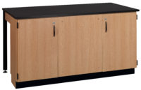 "2-Student Table With Front Cabinet -- 1"" Chemical Resistant Laminate"