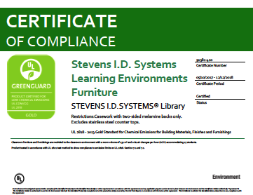 UL GREENGUARD Gold Certification - Library